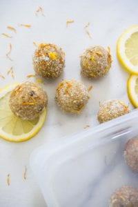 Lemon Turmeric Bliss Balls Veggiekins