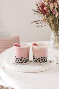 strawberry rose bubble tea veggiekins