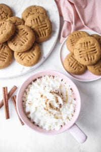 Pumpkin spice latte and cookies