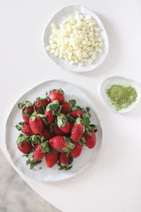 matcha white chocolate covered strawberries veggiekins
