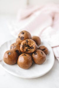 Vegan chocolate chip bliss balls