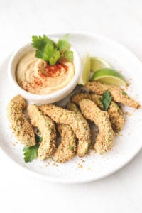 summer Baked Avocado Fries recipe by food bloggers - soom foods - veggie kins