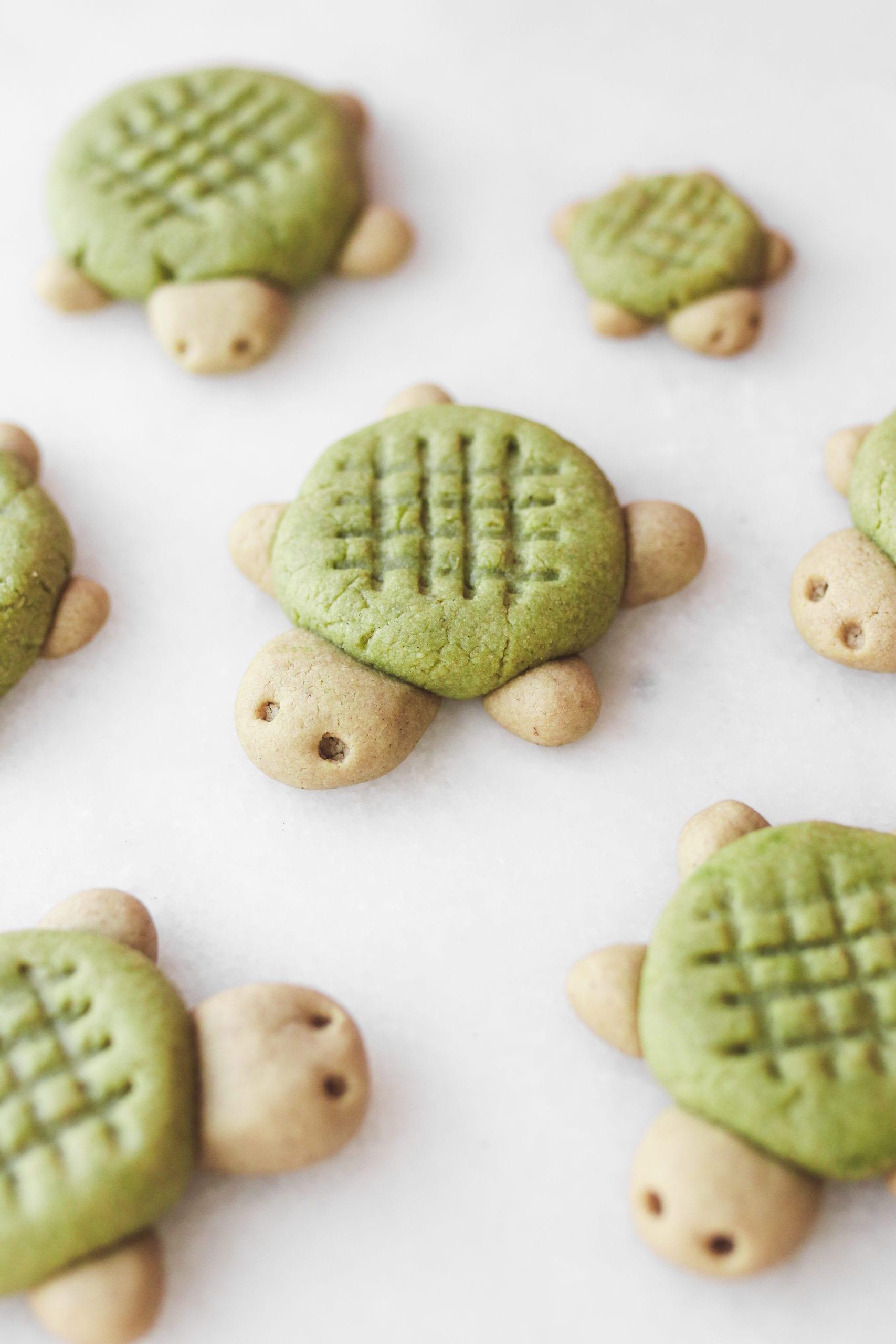 matcha tahini turtle cookies veggiekins