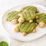Turtle Shaped Vegan Matcha Cookies