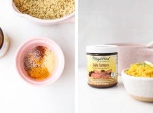 Golden Garlic Quinoa Veggiekins