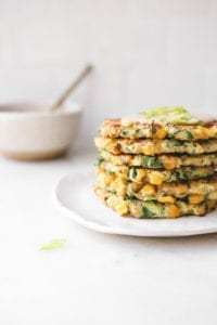 Sweet Corn, Kale and Zucchini Fritters Veggiekins