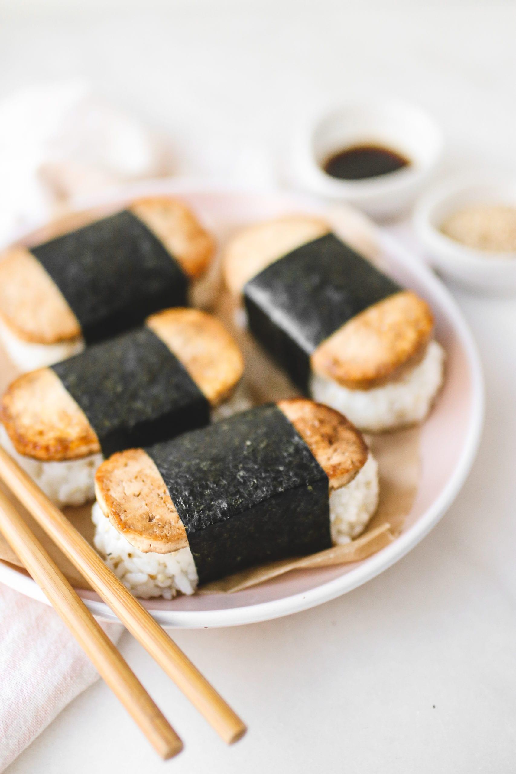 Vegan Tofu Spam Musubi Gluten Free Oil Free Veggiekins Blog
