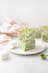 vegan matcha rice krispies veggiekins