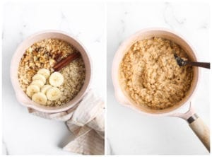 banana bread oatmeal veggiekins