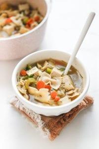 Vegan Tofu Chicken Noodle Soup Veggiekins