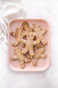 Almond Butter Gingerbread Cookies Veggiekins