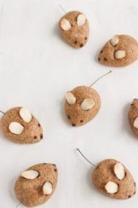 veggiekins vegan almond mouse cookies