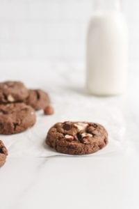 veggiekins nutella chocolate hazelnut cookie vegan