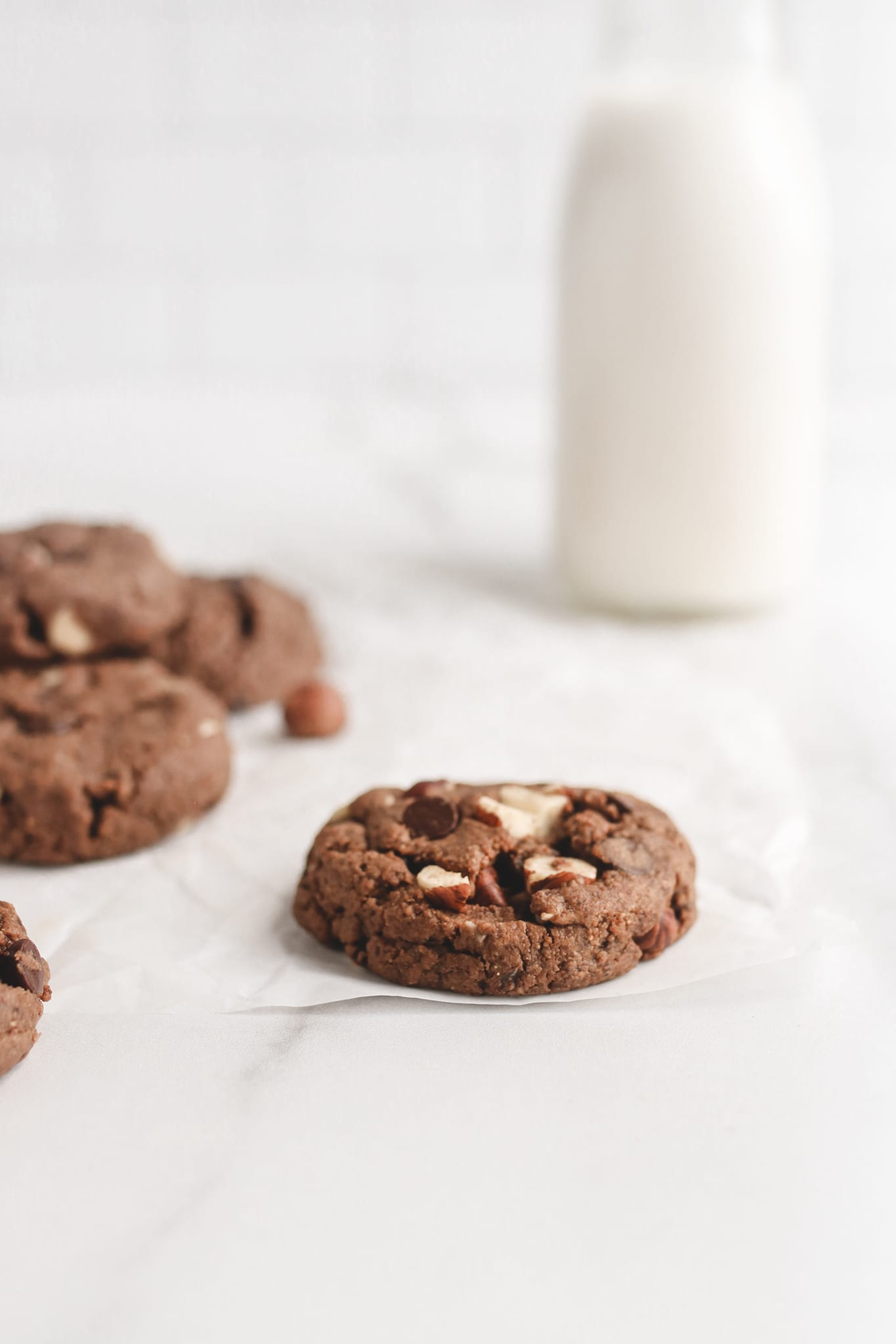 veggiekins nutella chocolate hazelnut cookie vegan