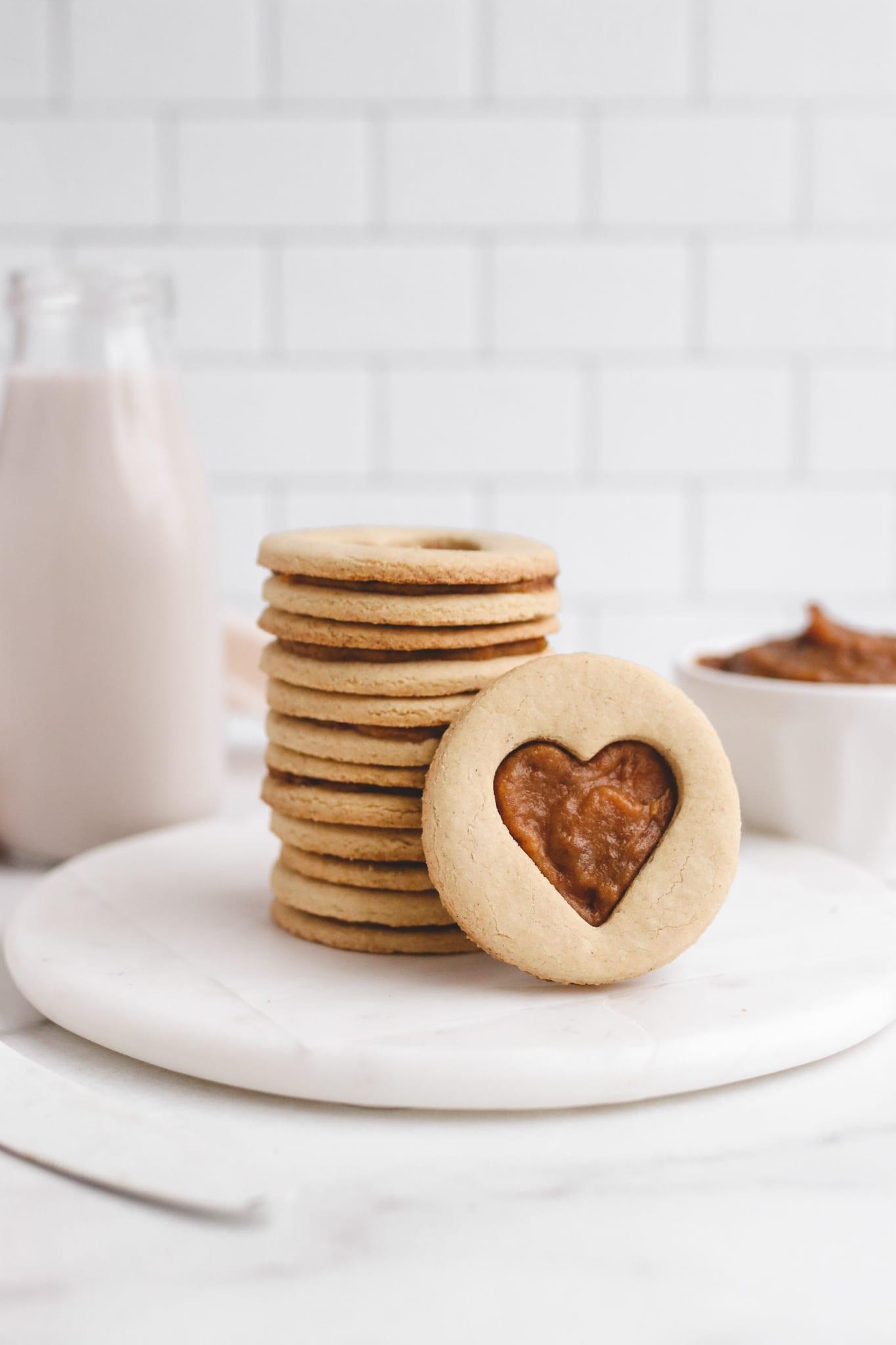 salted caramel shortbread cookies veggiekins