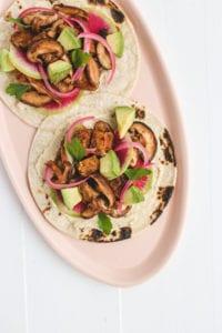 vegan mushroom shii-tacos veggiekins