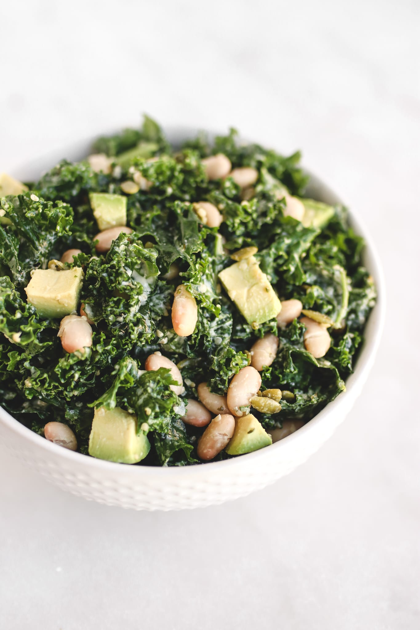 white bean and kale salad veggiekins