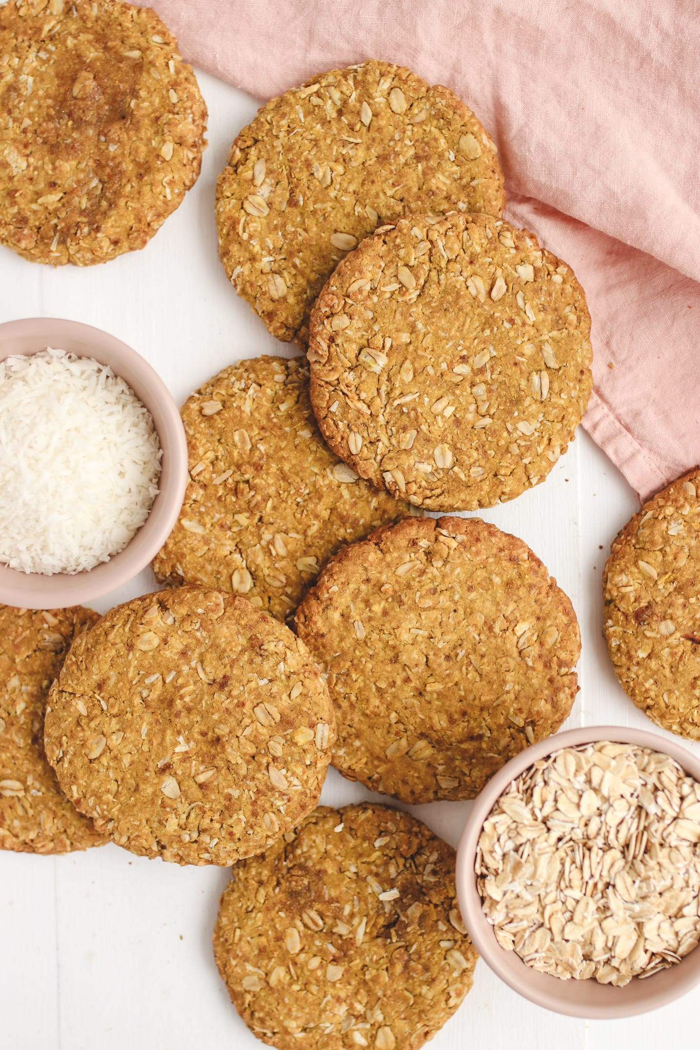 healthy vegan anzac biscuits