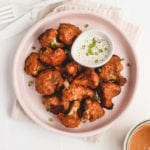 Healthy Tahini Buffalo Cauliflower wings