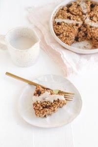 hot cross bun baked oatmeal veggiekins