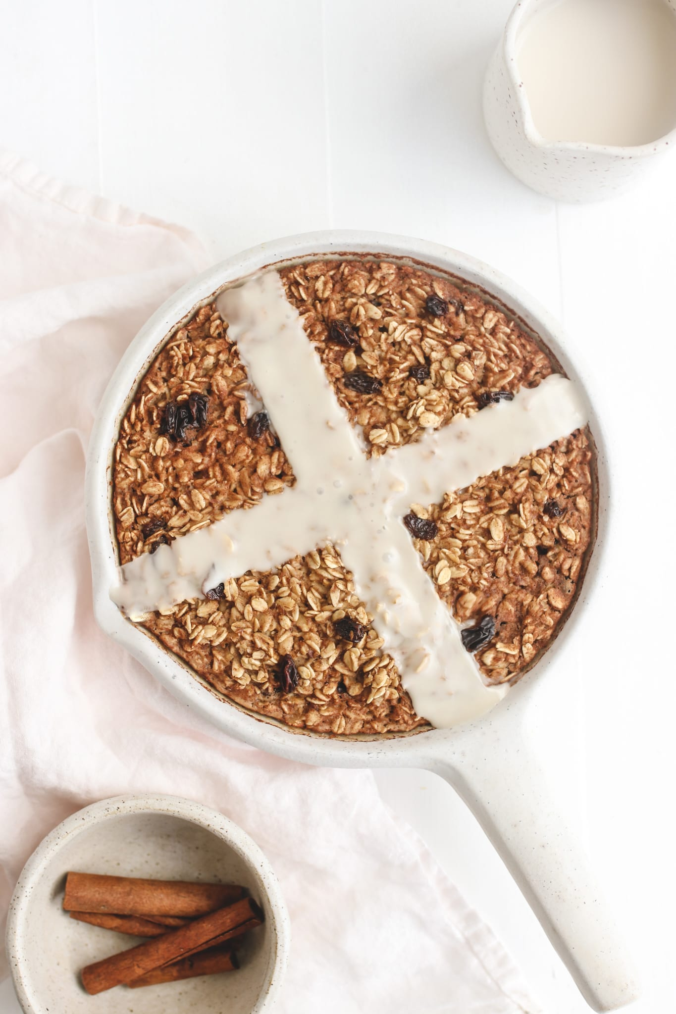 hot cross bun baked oatmeal veggiekins