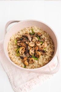 mushroom asparagus lentil risotto veggiekins