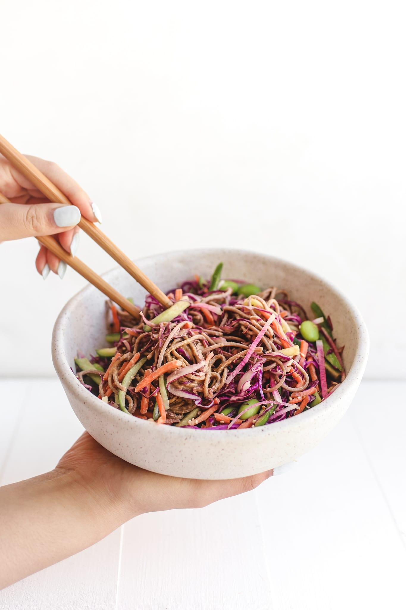 rainbow soba noodle salad veggiekins