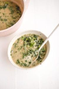 Vegan Creamy Cauliflower Kale Soup Veggiekins