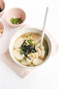 vegan korean rice cake soup