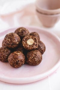 healthy ferrero rocher bliss balls veggiekins