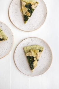 easy vegan spinach artichoke pizza veggiekins