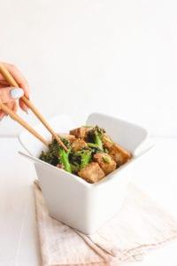 Healthy Teriyaki Tofu Broccoli Stir Fry Vegan Gluten Free Veggiekins