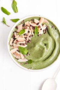 vanilla mint chip smoothie bowl veggiekins