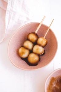 Mitarashi Dango Vegan Gluten Free Veggiekins
