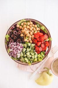 vegan italian chopped salad oil free