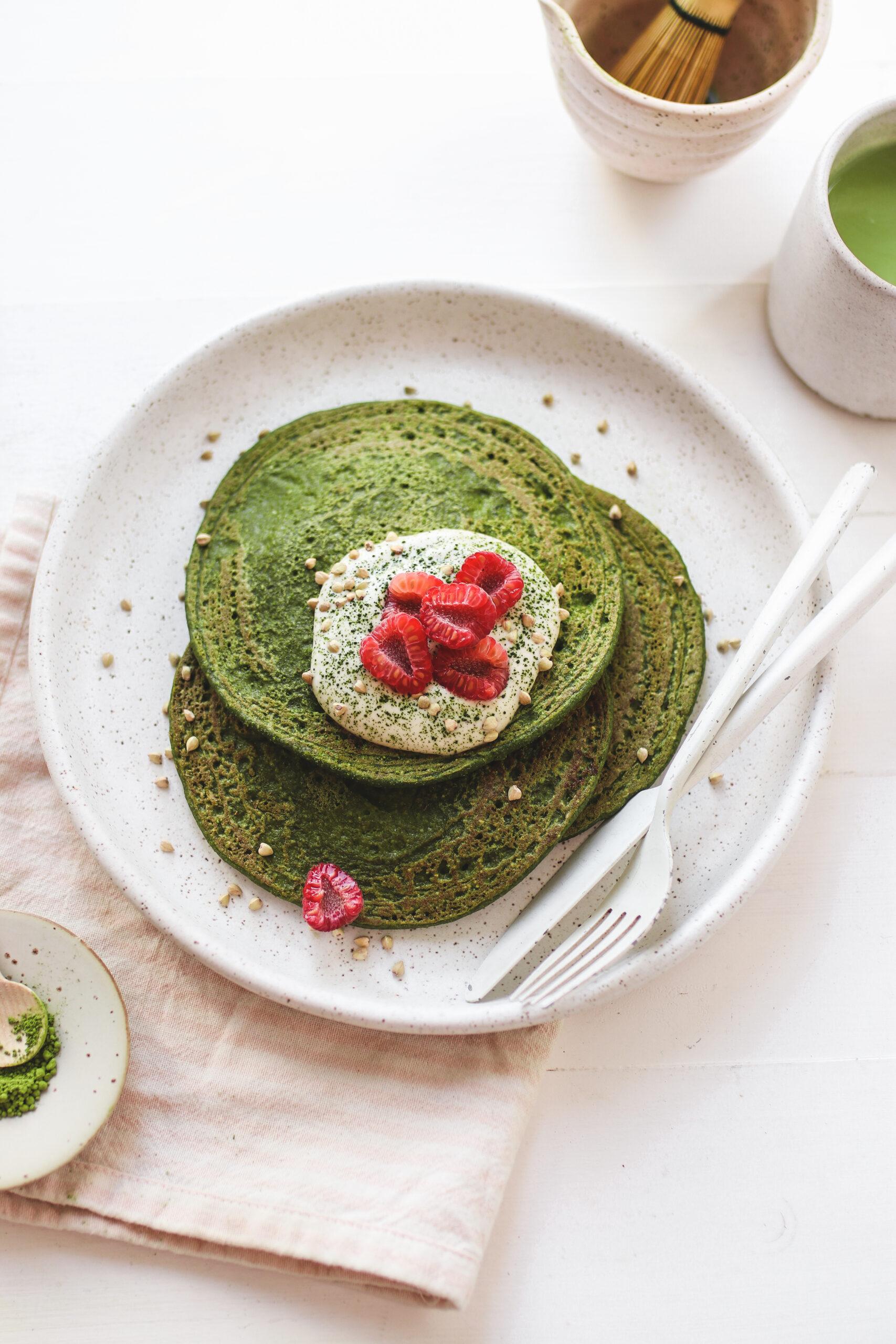 Matcha Spinach Pancakes Veggiekins