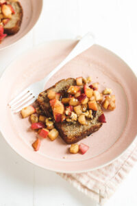 Vegan Apple Pie French Toast Veggiekins Blog