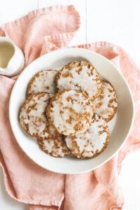 Iced Gingerbread Oatmeal Cookies Veggiekins Blog