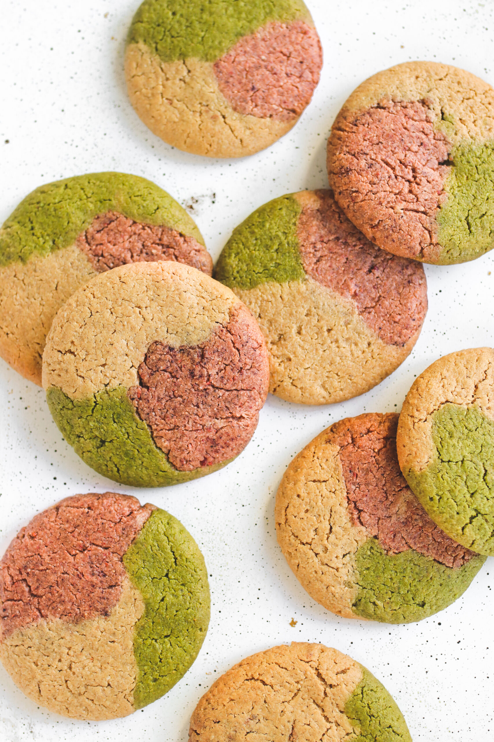 Strawberry Matcha Cookie Vegan