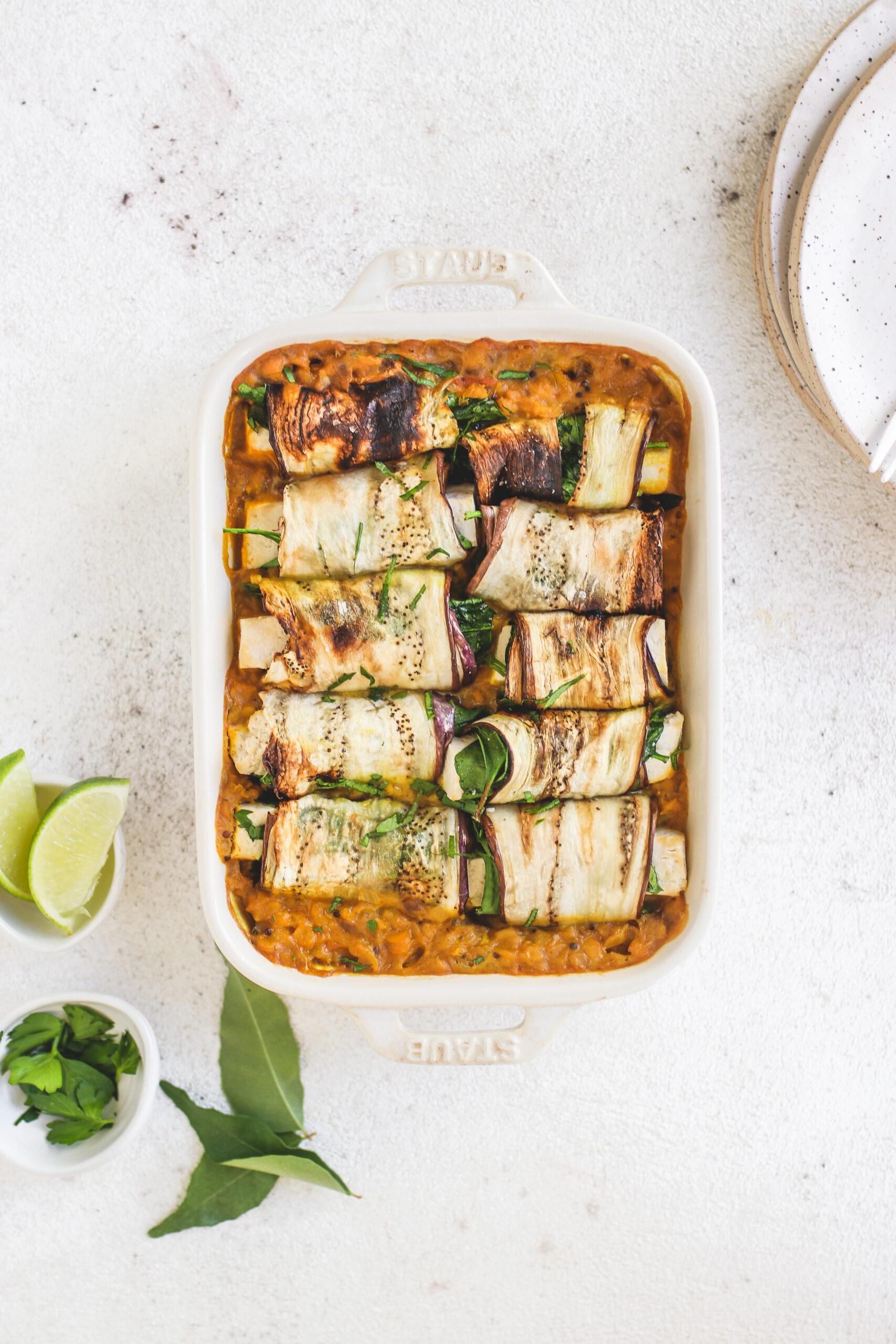 Tofu Eggplant Rolls Veggiekins Blog