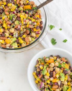 Favorite Bean Salad Plant Based on a Budget