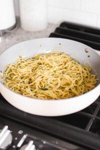 Vegan Scallops Miso Garlic Butter Pasta