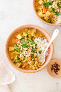Vegan Peanut Curry with Smoked Tofu