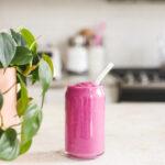 Pink Pitaya Smoothie With Portein