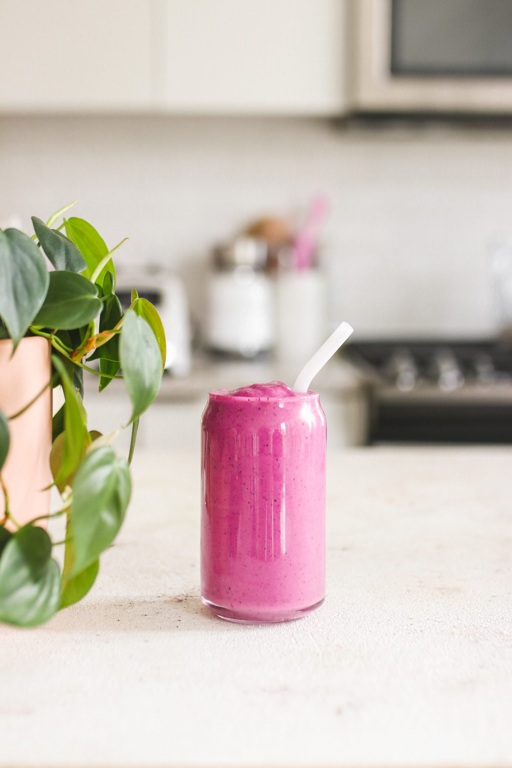 Pink Pitaya Smoothie With Portein