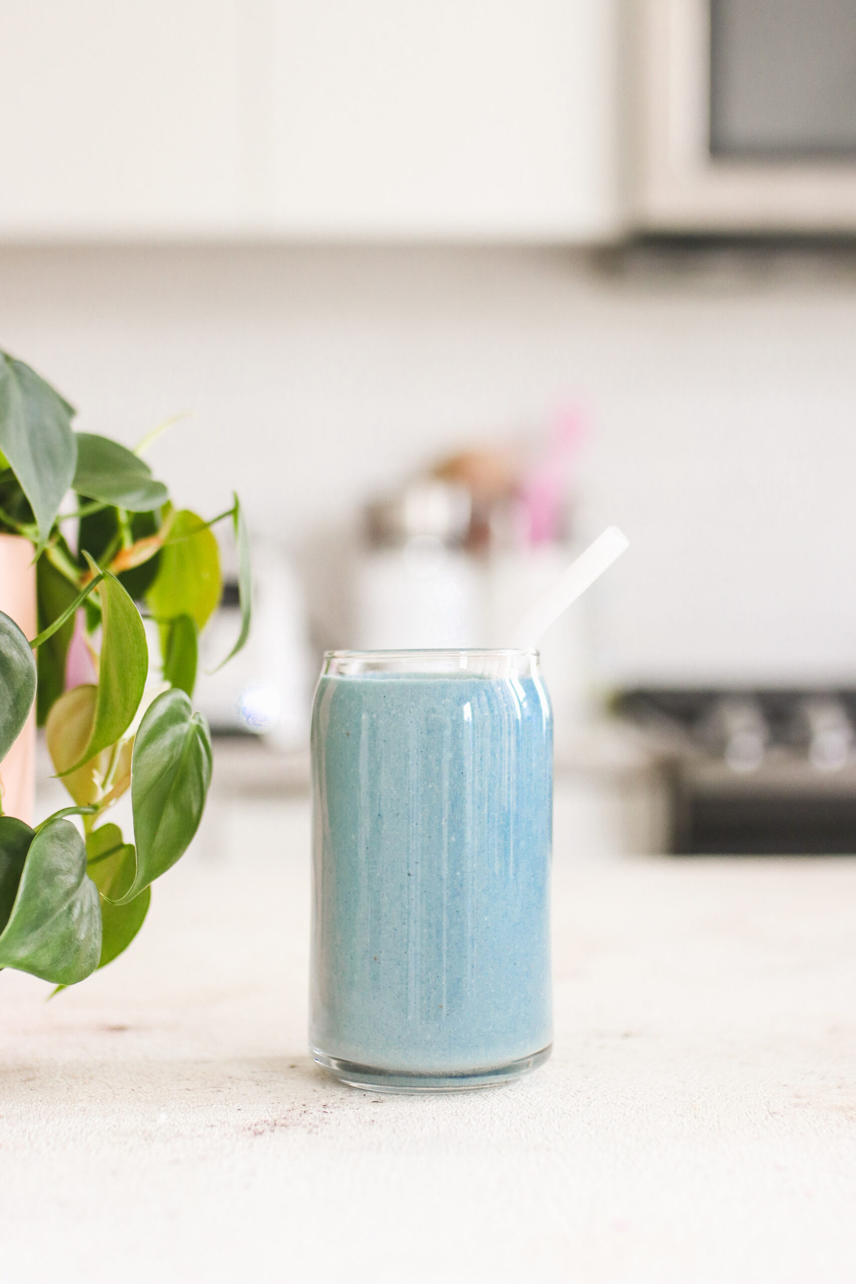 blue spirulina protein smoothie