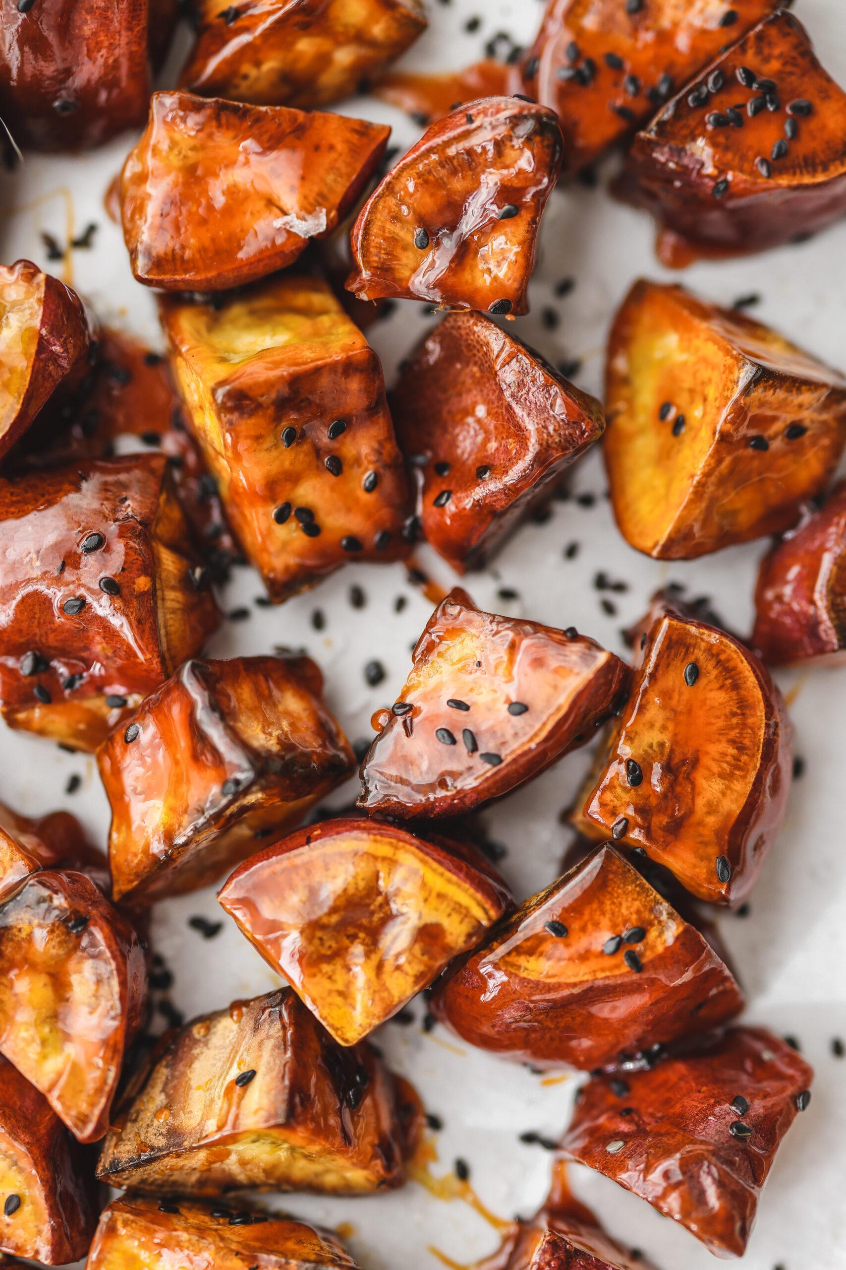 Korean Candied Sweet Potato (Goguma Mattang)