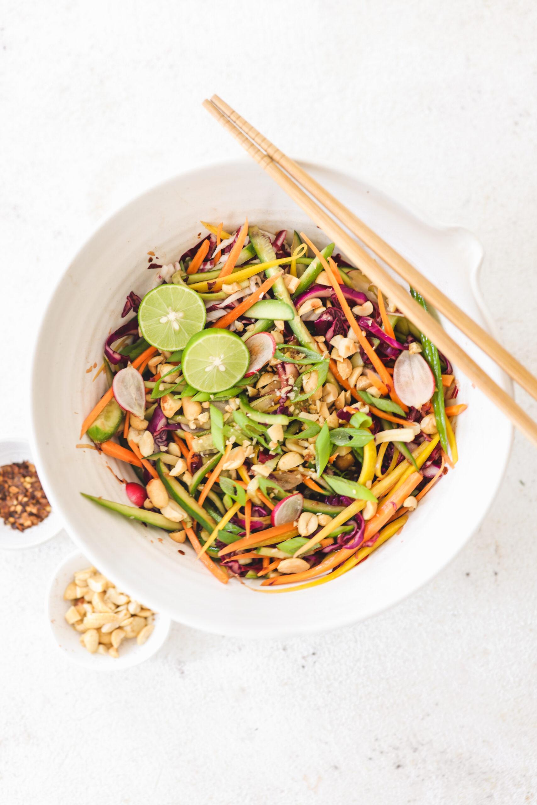 Pad Thai Salad Veggiekins Blog